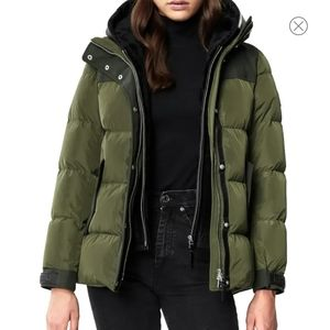 Brand New Mackage Winter Puffer Leather Jacket